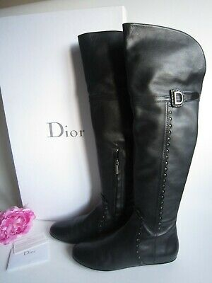 Christian Dior long over knee leather boots. Size 39/6UK.Lightly used. Beautiful