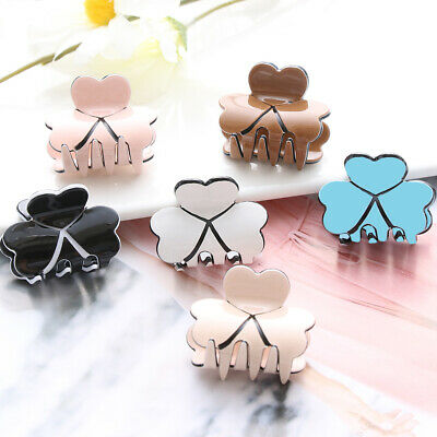 Women Fashion Candy Color Acrylic Mini Hairpins Clamp Hair Claw Clips Barrettes'