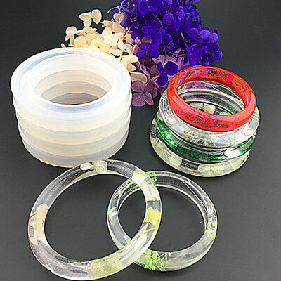 Silicone Mold Casting Mould Resin Bangle Bracelet Jewelry Making DIY Craft Tool'