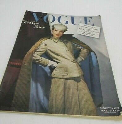 Vintage WWII 1942 Vogue Patterns Counter Book Catalog Womens College Fashions
