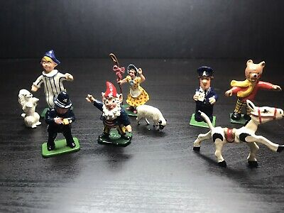 Vintage Lead Figurines Classic Cartoons, Dobby, Rupert the bear, Noddy + More