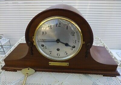 Westminster chimes 8 Day  Mantel clock in a Mahogany cabinet W.D.O London 1928