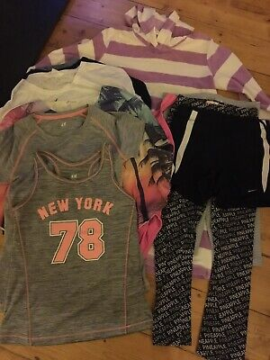 Bundle Of Clothes For Girl Age 8-10, Boden, Pineapple, Nike, Next, H&M, Speedo,