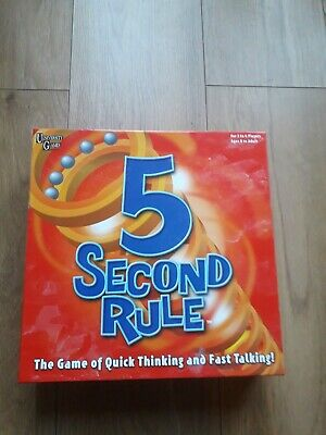 University Games 5 Second Rule Board Game - excellent condition