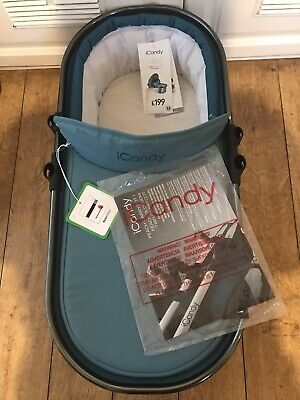 Icandy Peach Carrycot Peacock Blue Design New For Icandy Pram Pushchair