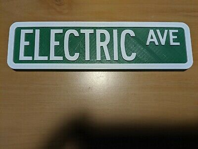 Custom street sign 2 color 3D printed USA customized personalized