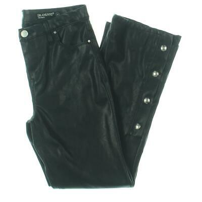 [BLANKNYC] Womens The Reade Black Faux Leather Ankle Skinny Pants 26 BHFO 5253