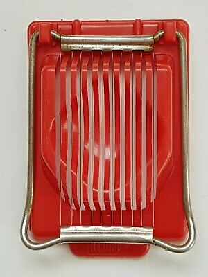 Egg slicer vintage 1950s plastic red boiled cutter tomato divider kitchenalia
