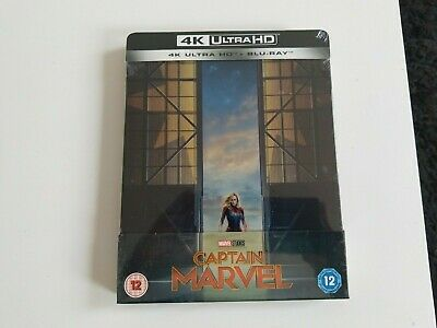 Captain Marvel Steelbook 4K UHD Ultra HD & Blu ray New UK Edition Fast Dispatch