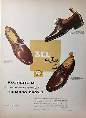 Lot 3 Vtg Florsheim Shoes Print Ads