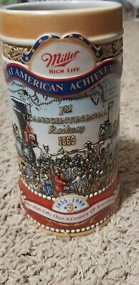 Miller High Life Great American Achievements Stein #3 Transcontinental Railway