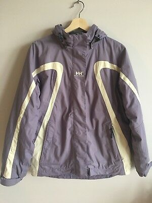 Girls Helly Hansen Hooded Ski Jacket Coat. Age 16 Years. Excellent Condition