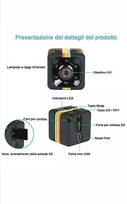 Micro Camera Spia  Sq11 Hd Mini Dv Spy  Nascosta Telecamera Sport Full