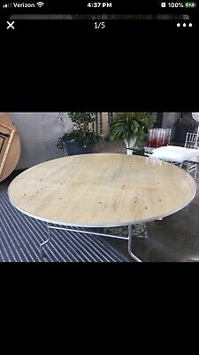 """72"""" (6 foot) solid wood Round banquet table, Seats 10"""