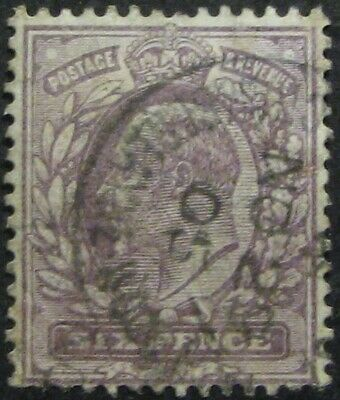 GREAT BRITAIN #135: F/VF Used 6p Early King Edward VII issue