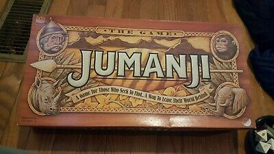 Vintage Jumanji Board Game from Movie 100% Complete 1995 Milton Bradley 4407