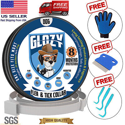 2 Pack Flea and Tick Collar For Large Size Fits ALL-8 Months-Waterproof