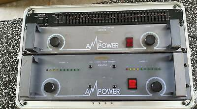 AMP Power Power Amplifiers x 2 with Flight/Road Case (Incl Yamaha EQ)