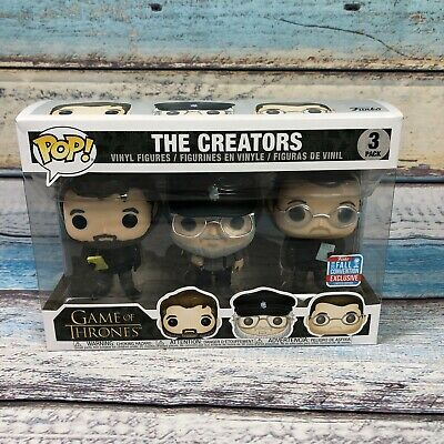 Funko Pop Game of Thrones The Creators 3 Pack 2018 NYCC - B&N Shared Exclusive