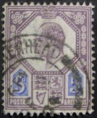 GREAT BRITAIN #134: VF Used 5p King Edward VII early issue
