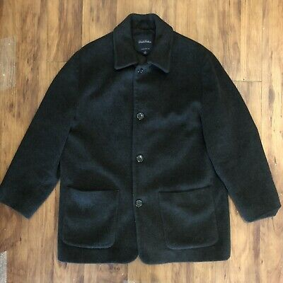 Brooks Brothers Wool Cashmere Dark Gray Pea Coat Size Medium