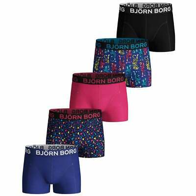 5-Pack Tigers, Leopard Print & Solids Boys Boxer Trunks, Black/Blue/Multi