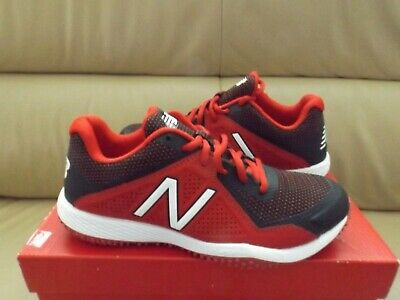 New Balance Men's Shoes Size 6 Low-Cut T4040BR4 Turf Baseball Cleat Red/Black