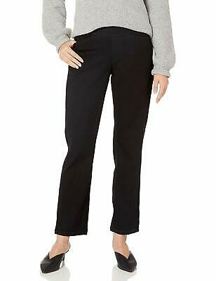 Chic Classic Collection Women's EasyFit Elastic Waist Pull On Pant,BlackDenim,18