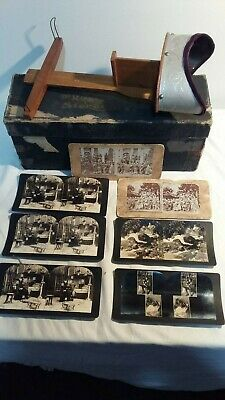 Stereograph With Original Box And 7 Sterographs