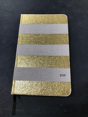 Kate Spade 2019 Women's Canvas & Gold Striped Planner