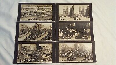 6 Stereograph Photos Of The Coronation Of King George The V
