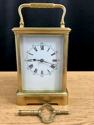 Large Drocourt antique carriage clock w/key - c. 1895/1900 - restored June 2019
