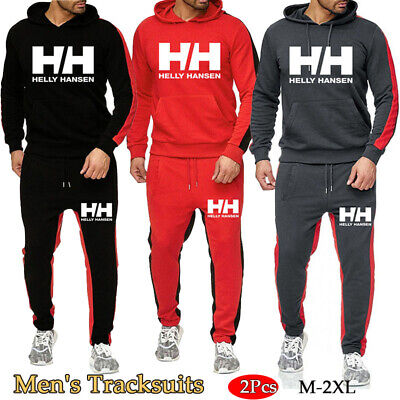 Men's Hooded Sportswear Set Casual Hoodies + Pants Bottoms New Jogging Tracksuit