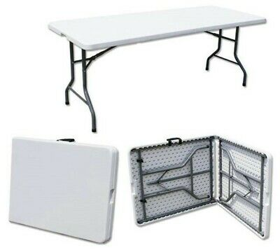 Catering Camping Heavy Duty Folding Trestle Table Picnic BBQ Party 6ft