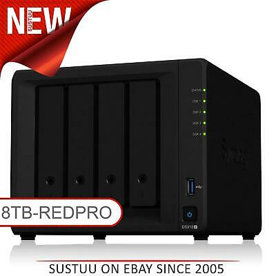 Synology DiskStation DS918+ 8TB (4 x 2TB WD RED PRO) 4 Bay Desktop NAS Unit