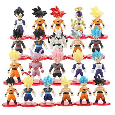 DRAGON BALL SUPER 21 STATUETTE PERSONAGGI Action Figure Sayan Goku Blu Rosa z X