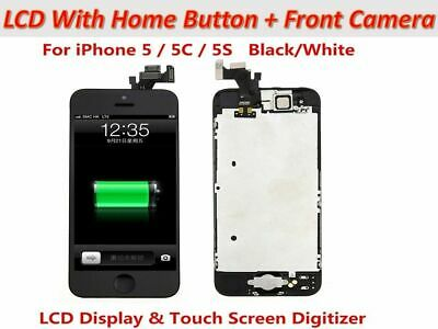 For Apple iPhone 5 5C 5S LCD Display Touch Screen Digitizer Camera + Home Button