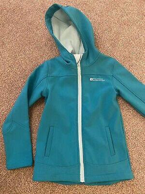 Girls Mountain Warehouse Green Hooded Jacket Age 7 - 8 Years