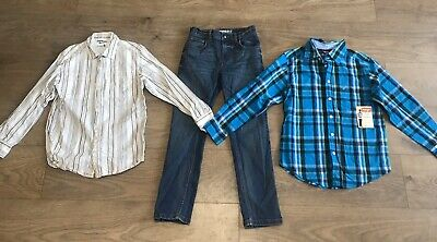 Boys bundle 8 years jeans shirts oshkosh bnwt wrangler G35