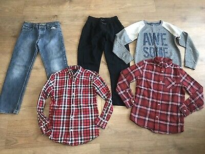 Boys bundle 10-11 years jeans jumper next tracksuit bottoms checked shirts G37