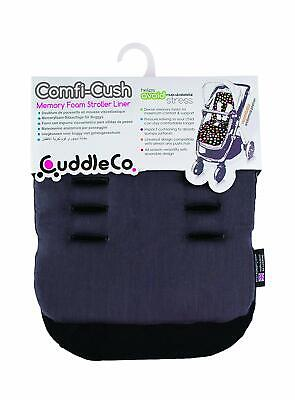 Brand new CuddleCo comficush memory foam stroller liner in Dove Grey & black