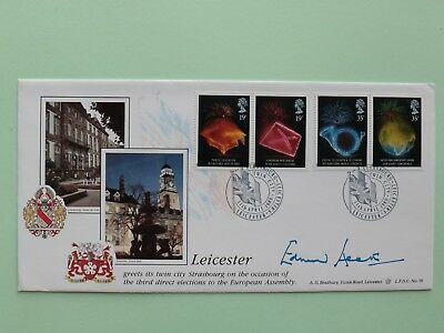 1989 Leicester greets twin city Strasbourg signed Edward Heath SNo51314