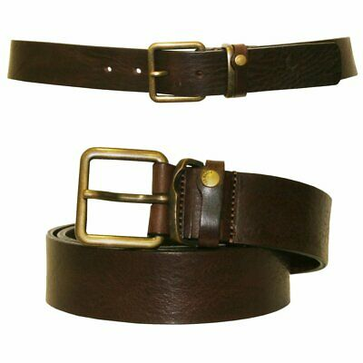 Ted Baker Katchup Casual Leather Jeans Belt, Chocolate Brown