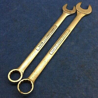 """(Lot of 2) Craftsman Combination Wrench 1-1/16"""" and 1-1/8"""""""