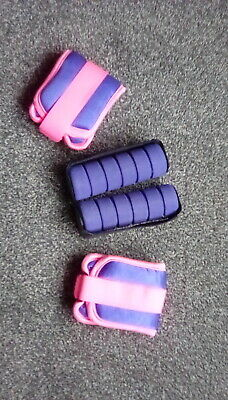 Wrist and ankle training weights. Ankle weights are velcro adjustable.