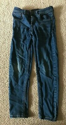 Size: Age 9 Years - Boys Slim Skinny Blue Denim Jeans Trousers - Next - VGC