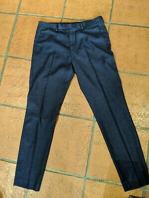 H & M Mens Skinny Fit Coupe Moulante Dress Pants Navy 33 Reg Super