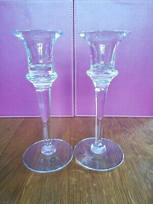 Pair of Dartington Crystal candlesticks excellent condition