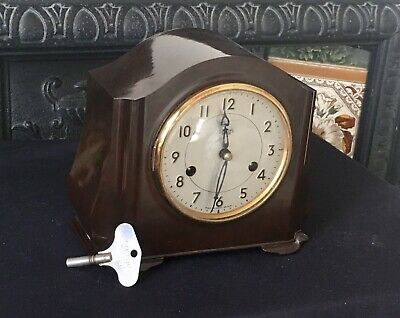Vintage Smiths Enfield, Bakelite Mantel Clock  good working order