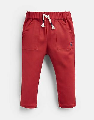 Joules Baby Ethan Lightweight Woven Trouser in RED ROBIN Size 9min12m